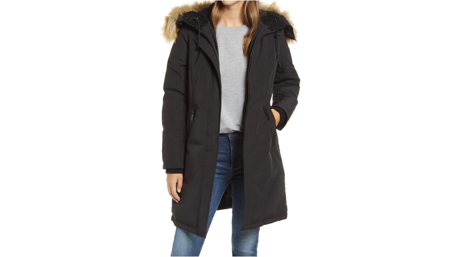 sam edelman faux fur jacket