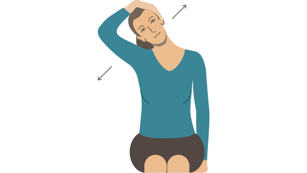 Illustration of neck stretches