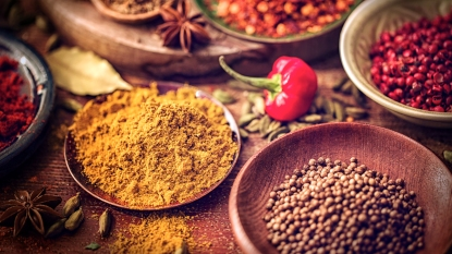 Piles of spices