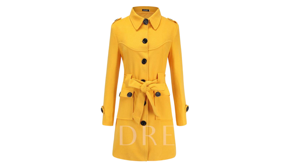 best womens overcoat yellow overcoat