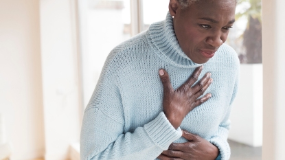 woman suffering from heartburn