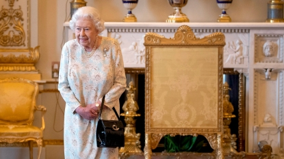 Queen Elizabeth in Buckingham Palace
