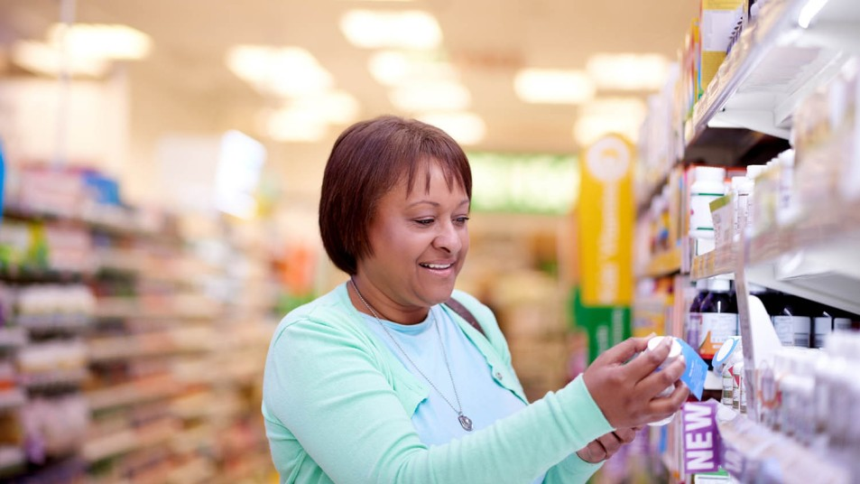 woman shopping at the drugstore