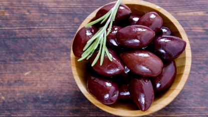 Small bowl of kalamata olives