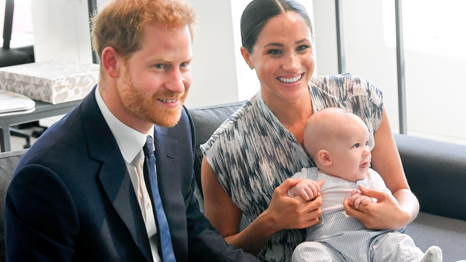 Meghan Markle with Prince Harry and son Archie