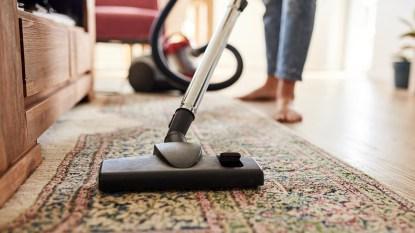 Vacuum going over carpet