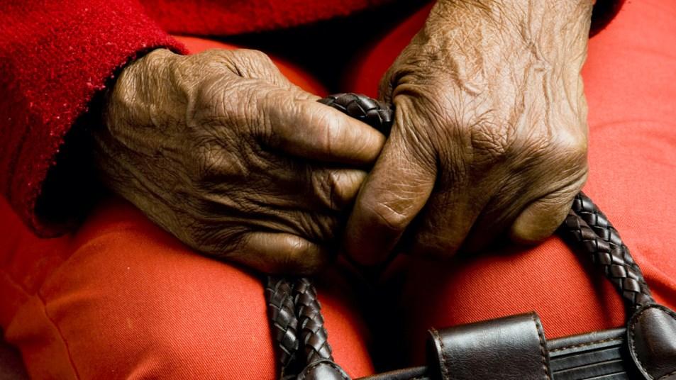 Older woman's hands