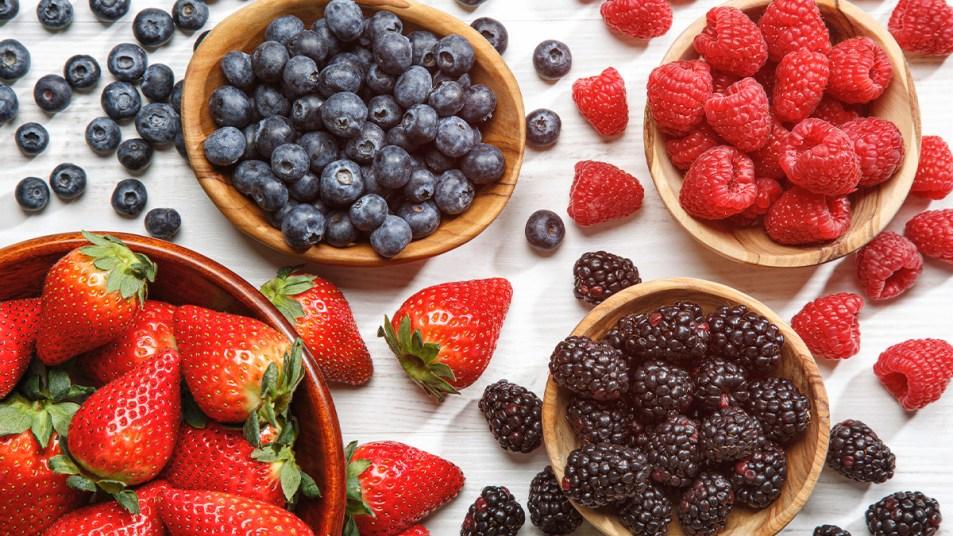 An array of berries