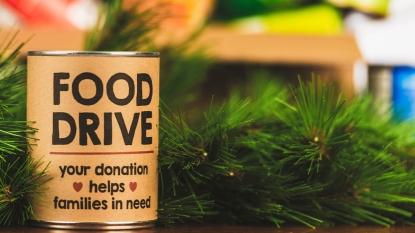 Holiday food drive story image