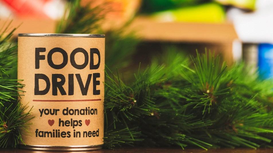 Holiday food drive story image