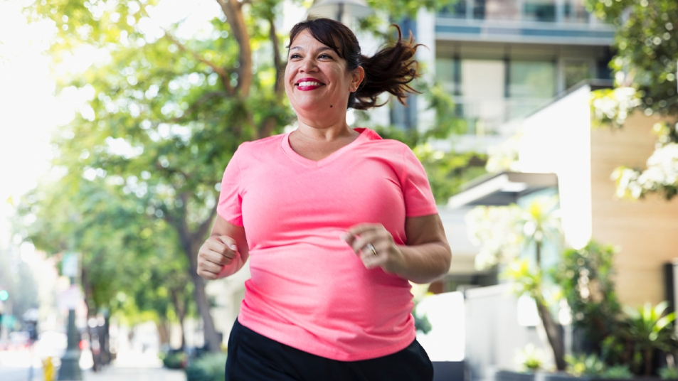 Woman going on a run