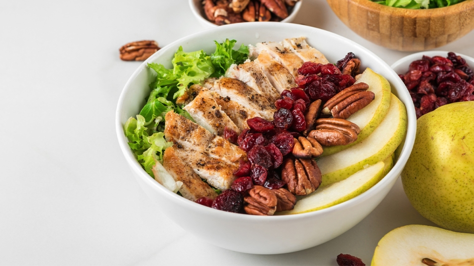 Healthy protein-filled salad