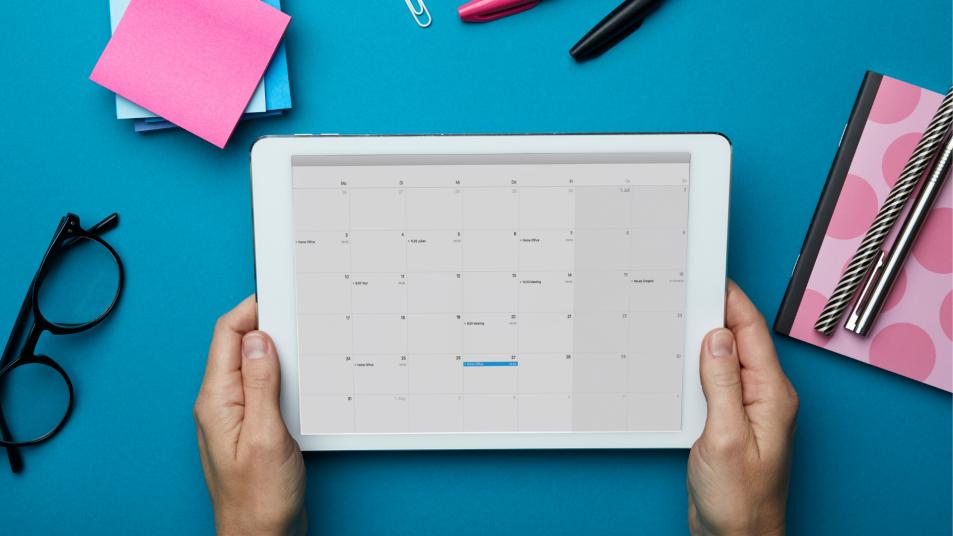 Calendar on an ipad