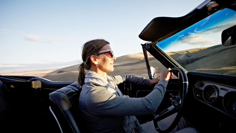 Woman going on a road trip