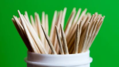 Cup of toothpicks