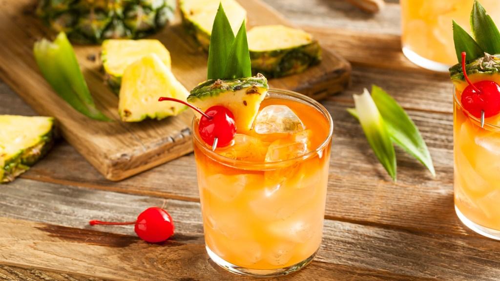 Pineapple-Cherry Cooler drink